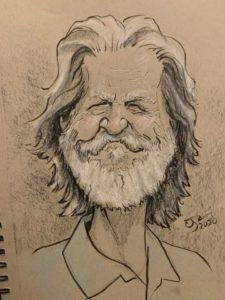Caricature of Jeff Bridges