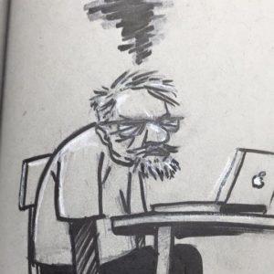 Self-portrait as a grumpy old man